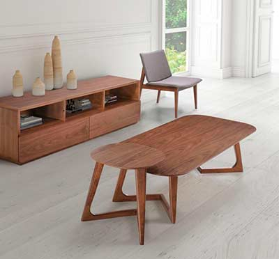 Modern Walnut Coffee Table Z097