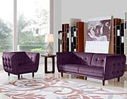 Purple Fabric Sofa DS Venita