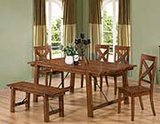 Rustic Pecan Extendable Table CO 991