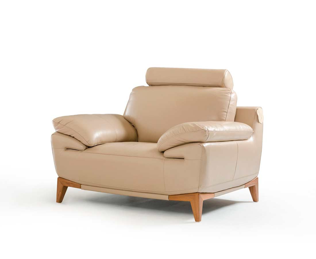 ... Contemporary Taupe Leather Sofa Set VG410 ...