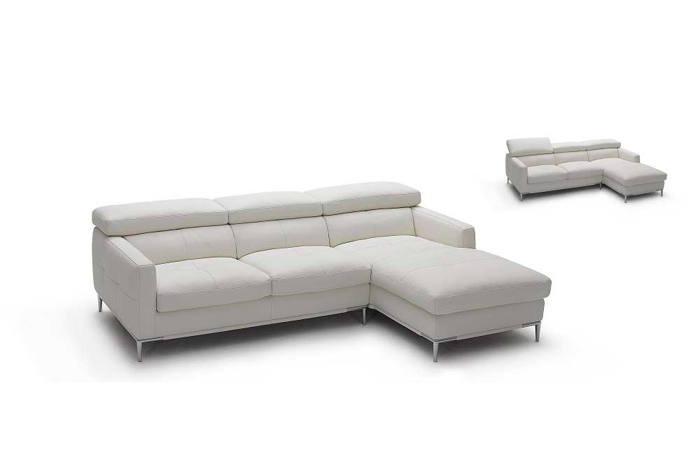 Italian White Leather Sectional Sofa Nj106 Leather