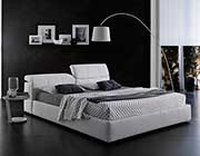 Modern White Platform bed with Storage NJ087
