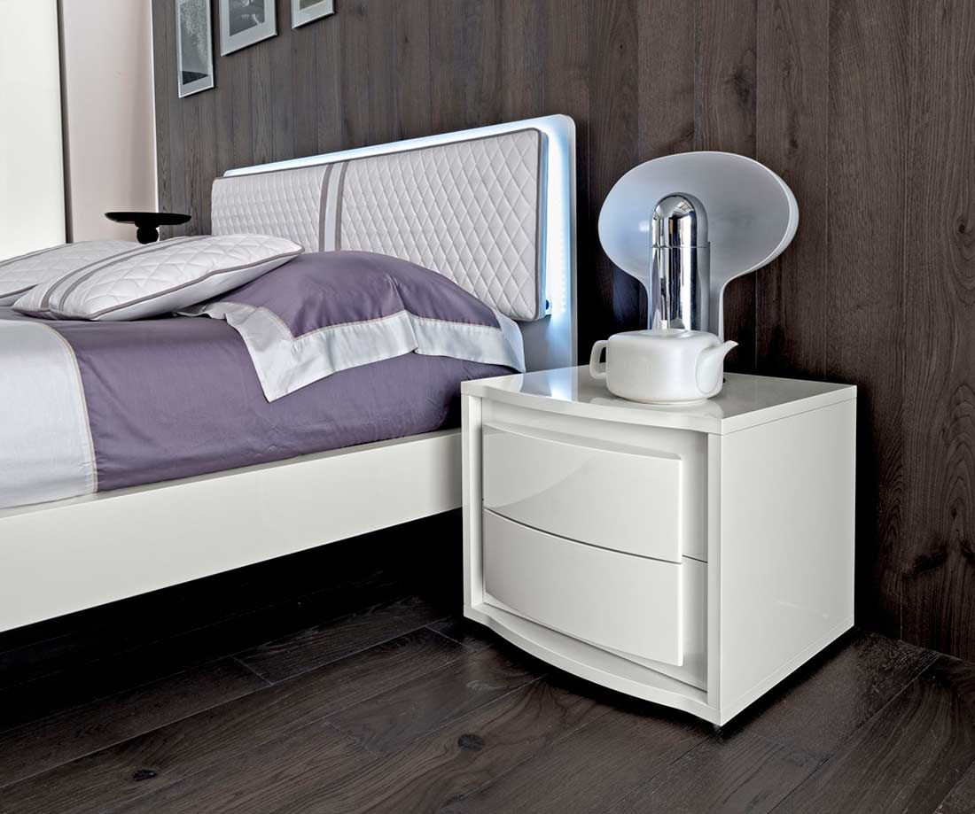 White Lacquer Bed Ef Dana Modern Bedroom Furniture