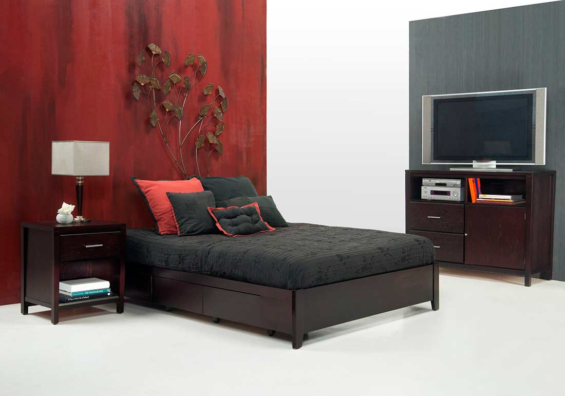 Simple Platform Bed MS Nile (No Headboard)