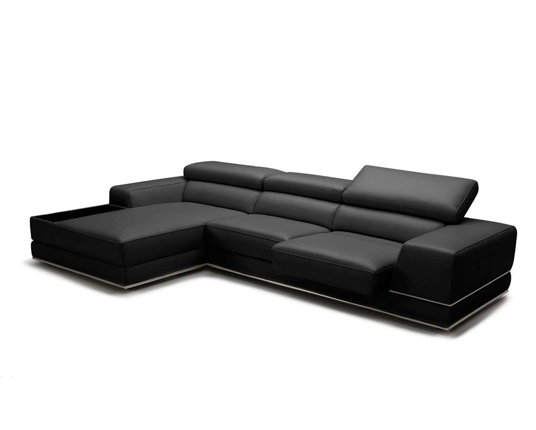 Full Leather Sectional Sofa Viva Mini Leather Sectionals