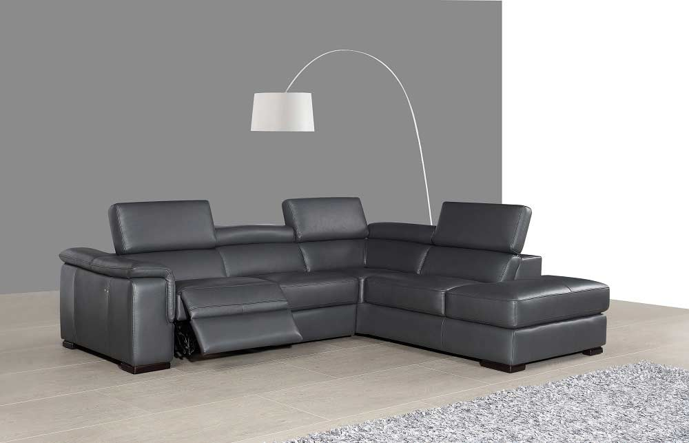 Premium leather sectional sofa with power recliner nj for Sectional sofa nj