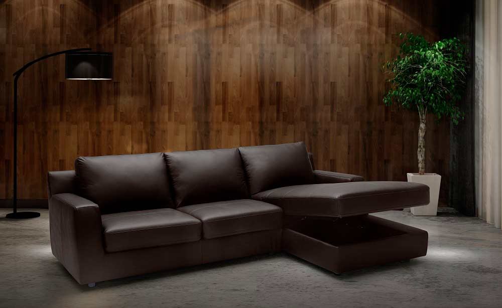 Modern Sectional sofa sleeper NJ Aletha | Leather Sectionals
