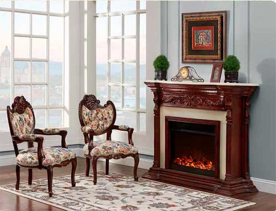 French Provincial Fireplace 9171 Tv Stands