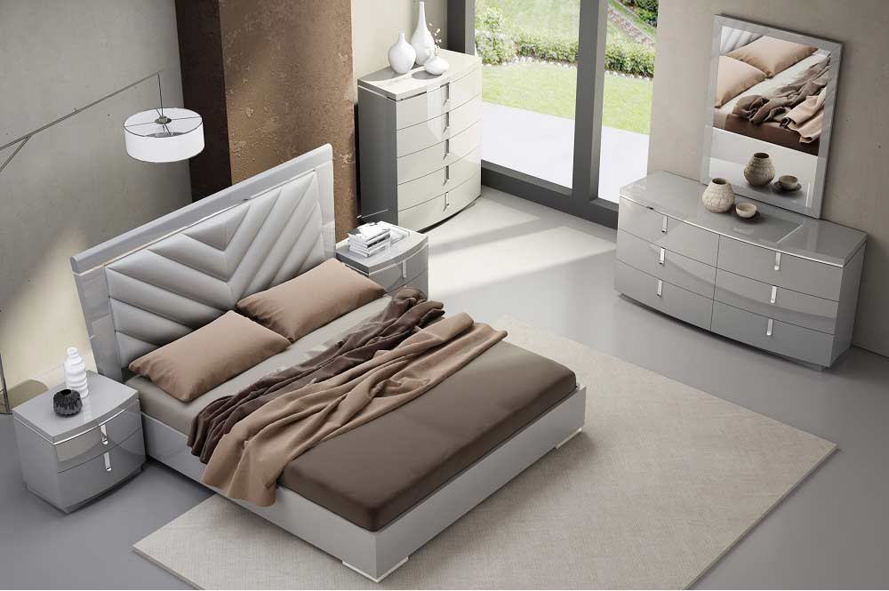 Grey Lacquer Bed Nj Nicole Platform Beds