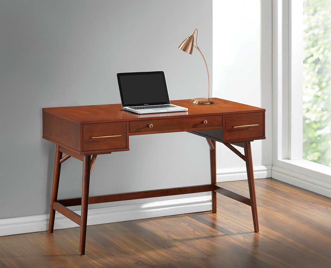Walnut Wood Writing Desk Co 744 Executive
