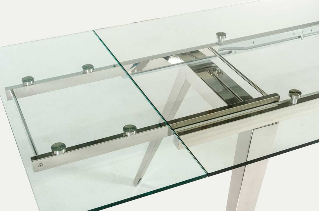 Extendable Glass Dining Table Vg429 Modern Dining
