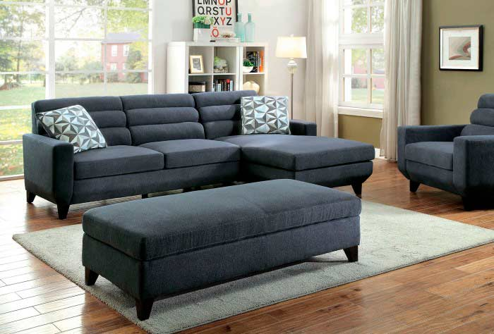 Dark Grey Fabric Sofa FA790
