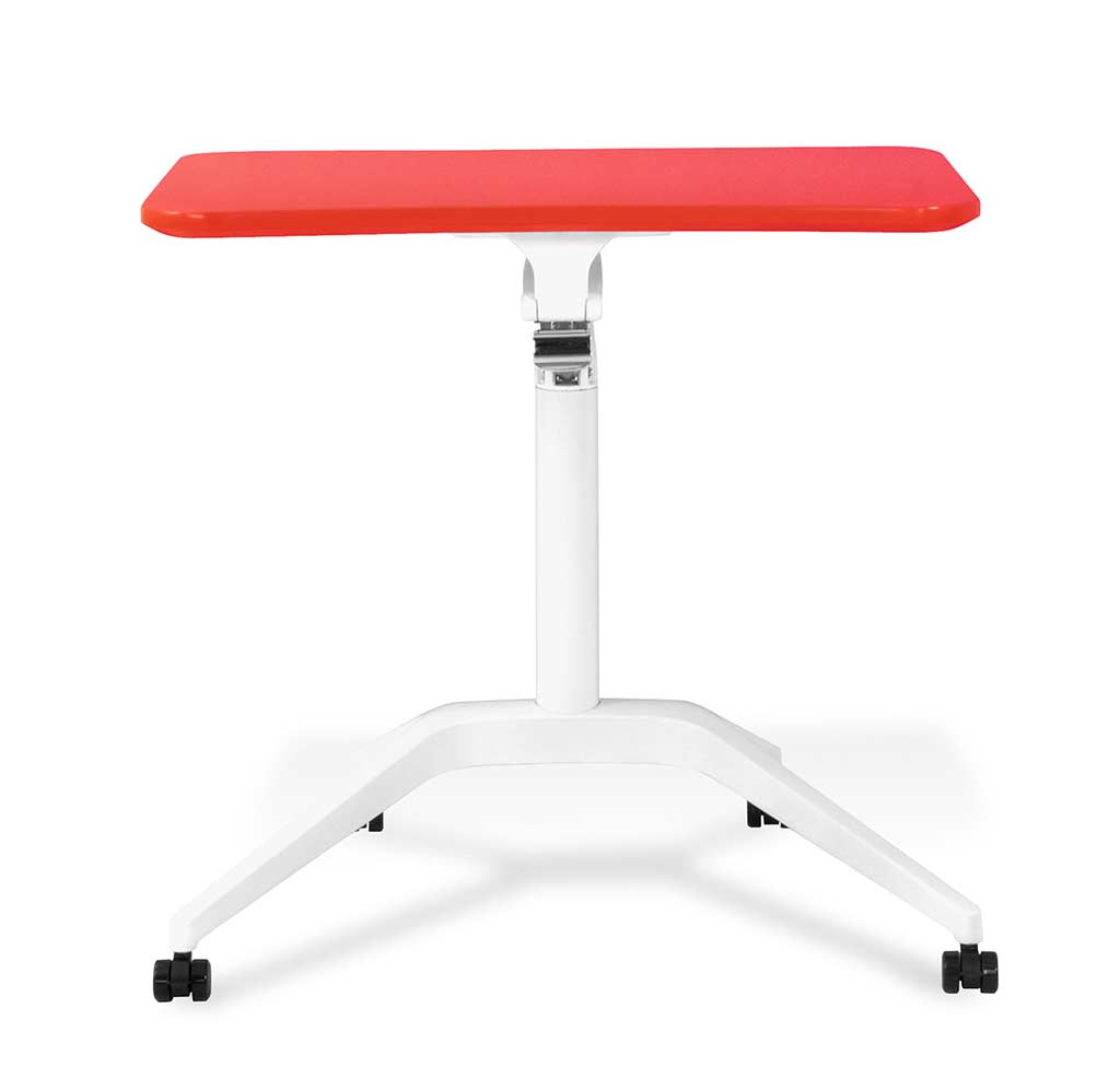 Red Workpad Adjustable Desk By Unique Furniture 201