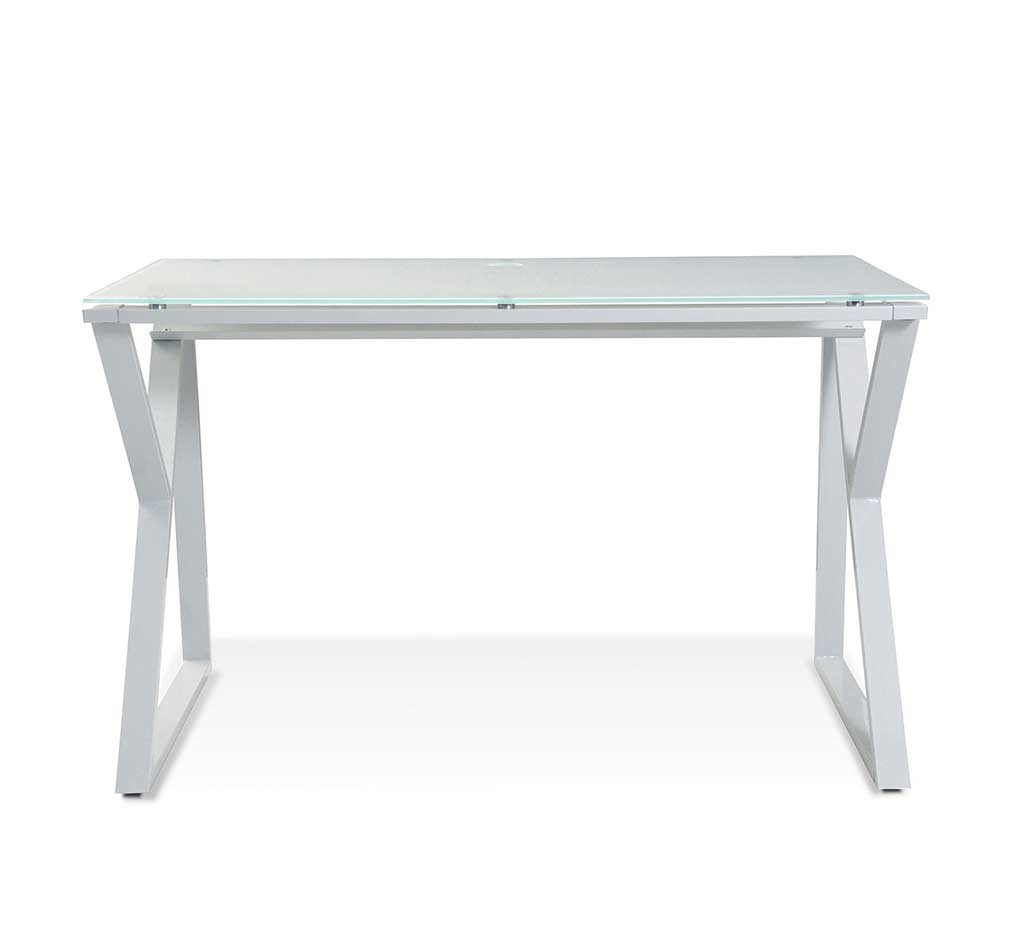 Unique Furniture Glass Top White Desk 223 Unique Desks