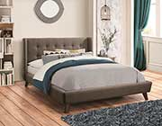 Gray Fabric Bed CO161