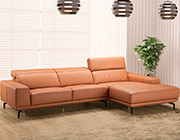 Lara Leather Sectional sofa