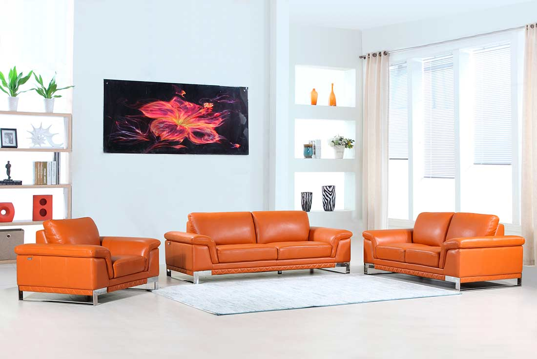 Camel Leather Sofa DI11