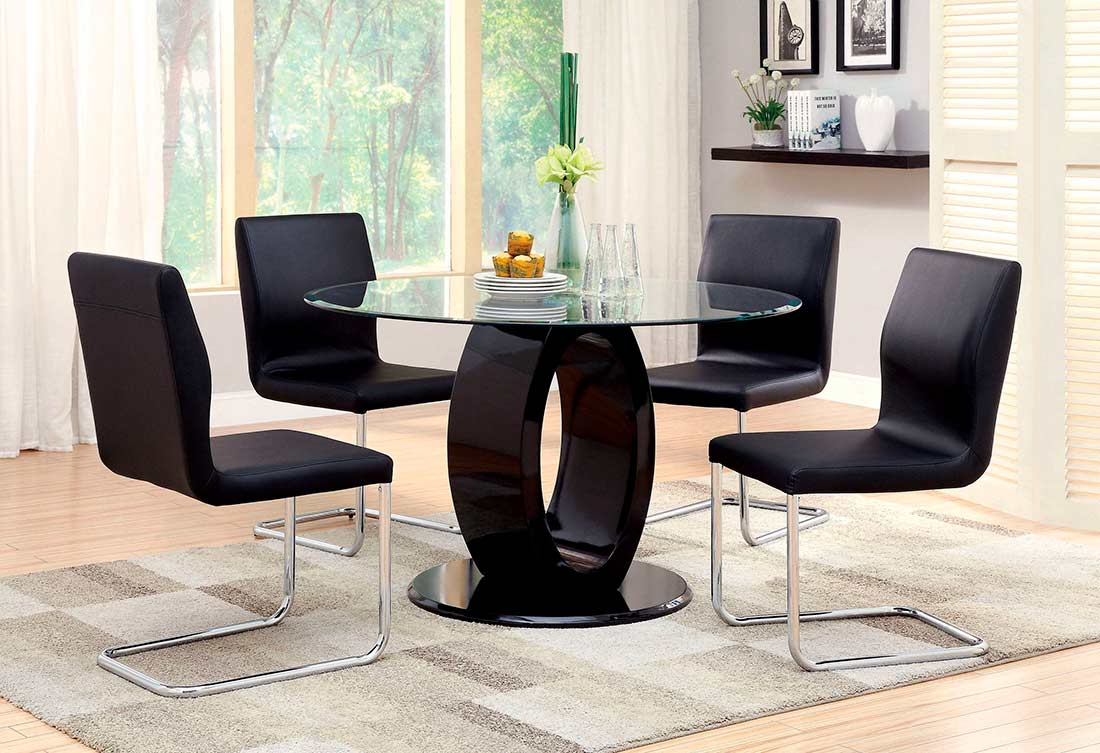 Round white dining table fa 825 modern dining for White round dining table modern