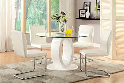 Round White Dining Table FA 825