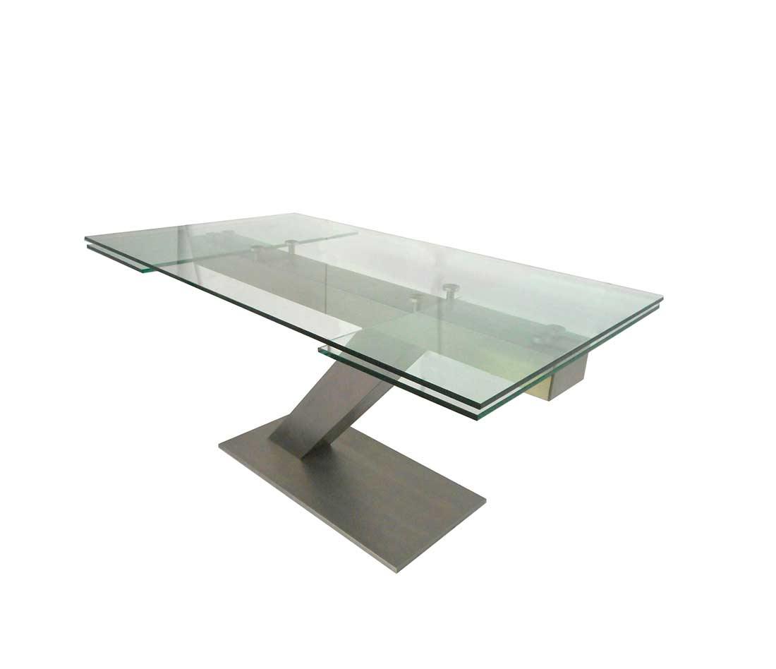 Extendable Glass Table In Matte Black Base EStyle 874 ...