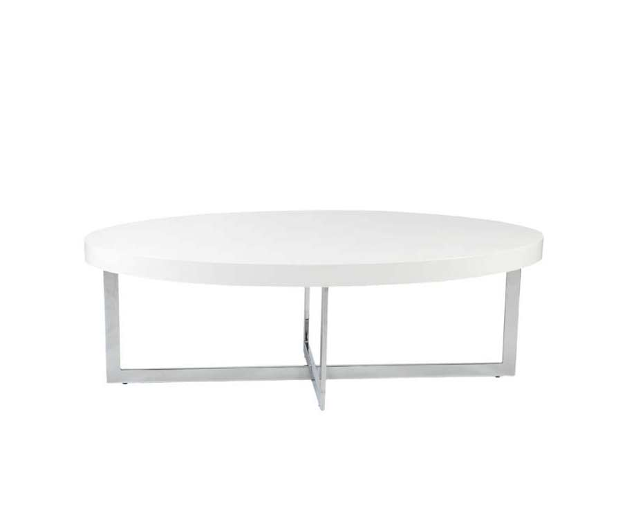 Olivia Coffee Table In White Lacquer