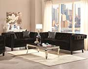 Black Velvet Sofa CO 817