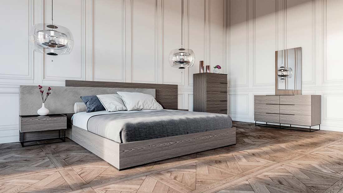 Italian Oak Grey Bedroom Set VG 393 | Modern Bedroom ...