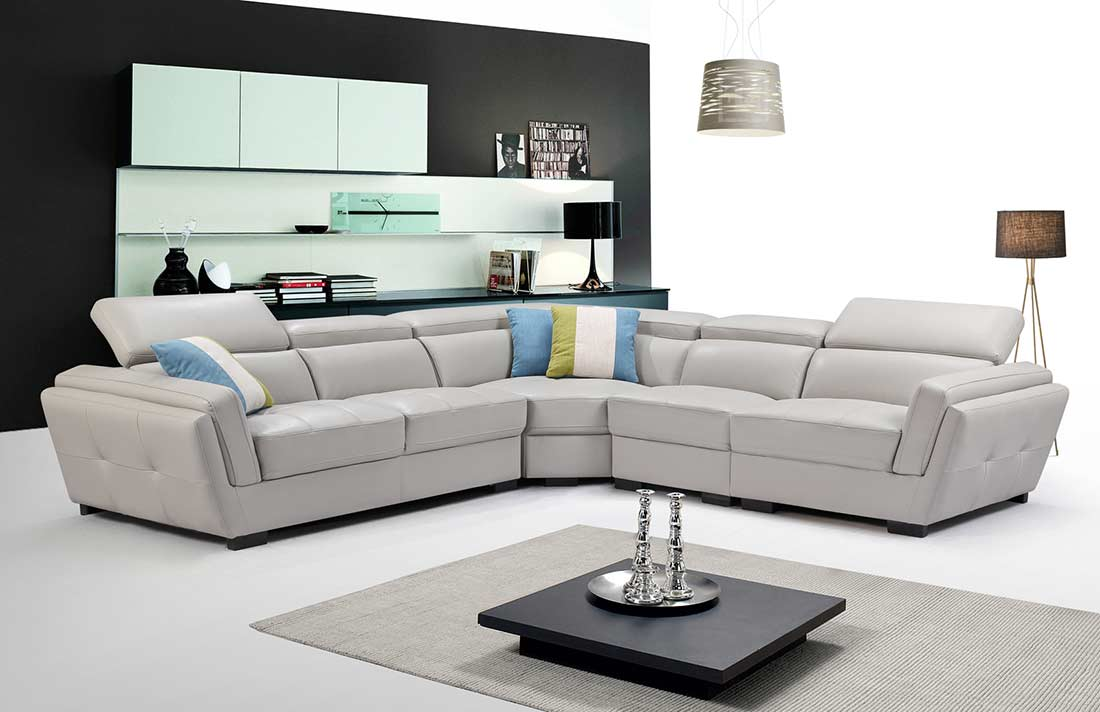 Light Grey Sectional Sofa Leather Sectionals