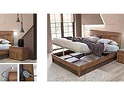 Modern Walnut Bed EF Tormenta