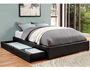Storage Platform Leatherette bed CO 386