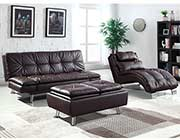 Contemporary Brown Sofa Bed CO 321