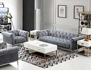 Gray Velvet Sofa DS Marilyn