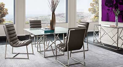 Tempered Glass Dining Table DS Nido
