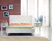 White Twin Bed with Crystals VG Monaco
