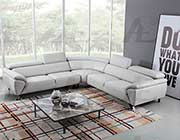 Light Gray Leather Sectional Sofa AE 002