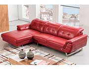 Red Italian Leather Sectional Sofa AE 085