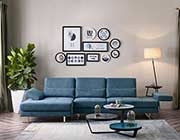 Blue Fabric Sectional sofa VG 758