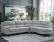 Light Gray Fabric Sectional sofa HE879