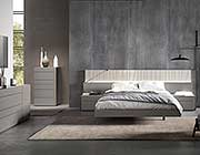 Grey Bed with Light Grey Lacquer NJ Paola