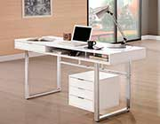 Glossy White Writing Desk CO 897
