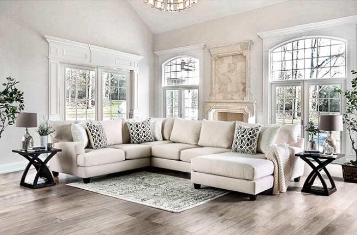J Shaped Sectional Sofa Fa Adelina