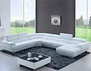 Modern Leather Sectional Sofa EF 43