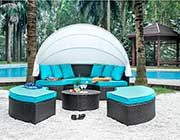 Patio Day bed with Turqoise Cushios FA 117
