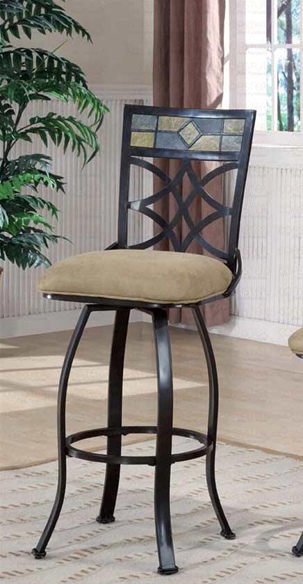 Tiled Back And Cushioned Seats Bar Stool Bar Stools