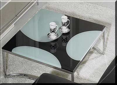 Coffee tables gt gt contemporary gt gt evg 66 square glass top coffee table