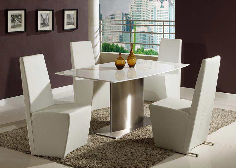 Cr 806 contemporary dining table modern dining for Contemporary dining room table