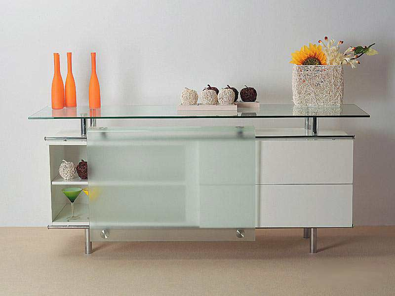 Cr 04 Gloss White Buffet Modern Buffets Stations