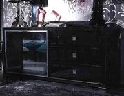 VG 6808 Black   Crocodile texture Buffet