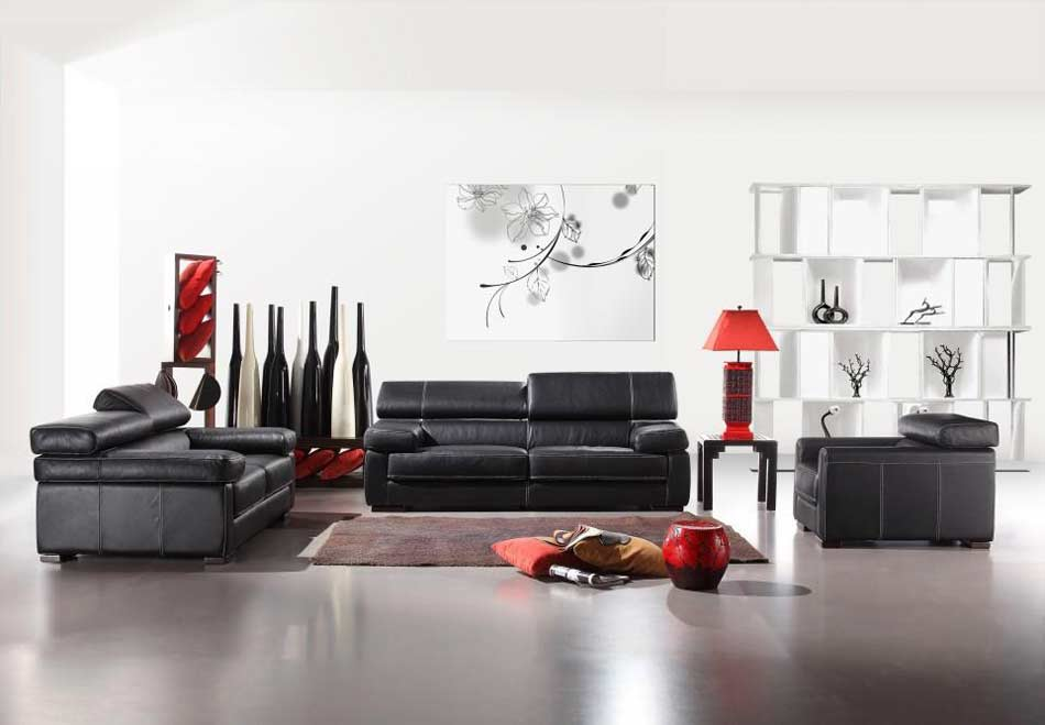 italian leather living room furniture. Italian Leather Sofa Set Vcal 81  Sofas