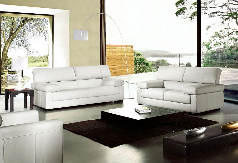 modern leather sofa set white sectional corner bed recliner
